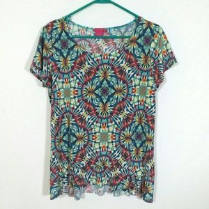 Psychedelic tie-dyed top